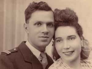Pierre Lantenois et sa femme
